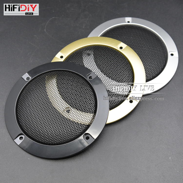 HIFIDIY LIVE 4.5'' 4 Inch Speakers Plastic Frame Metal Iron Wire Grilles Speaker Net Cover High-grade Car Home Mesh Enclosure