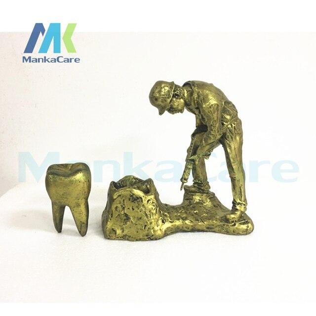 Big Dental Dentista Dentes Artesanato Artware Cor Dourada Brinquedos Dental Clinic Presente Resina Artesanato Artigos de Decoração Frete Grátis