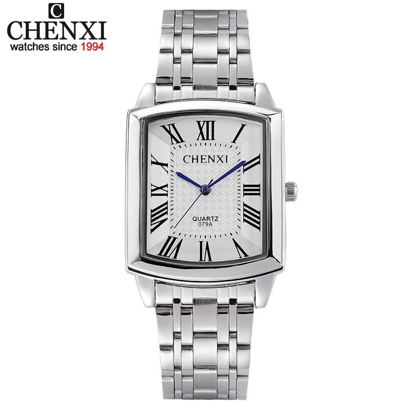 New Women Dress Watches Fashion Watches Men Luxury Brand Square Dial Personalized Casual Lover Couple Full Steep Strap Watches