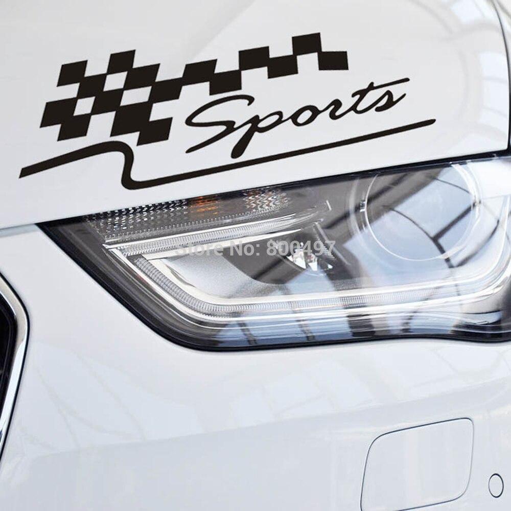 Chequered flag sports classical car sticker auto decal eyelids sticker for tesla toyotachevrolet volkswagen hyundai kia lada