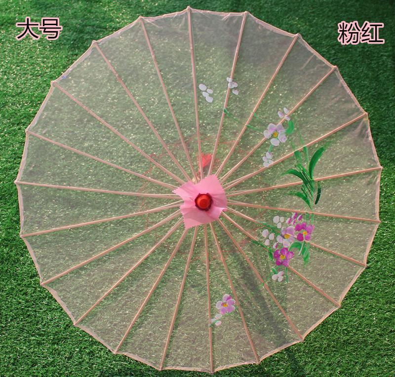 SchöN 1 Stück Tanzenden Sonnenschirm Transparent Bambus Tuch Blume Seidigen Handwerk Floral Leistung Requisiten Dekoration Retro Klassische Kleine Große Moderater Preis