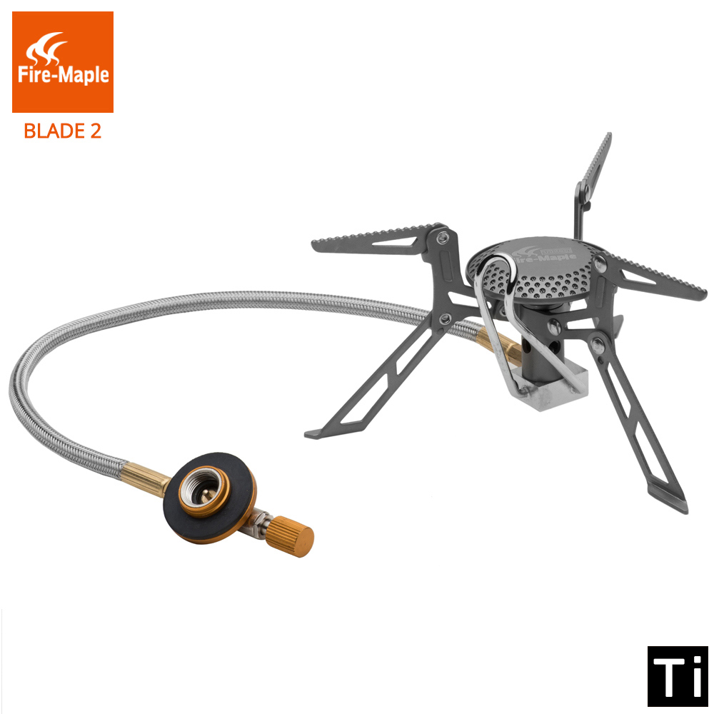 Подробнее о Fire Maple Blade 2 Upgrade Split Gas Stove Ultra Light Titanium Alloy Outdoor Cooker Gas Burner Camping Equipment 135g FMS-117H fire maple camping stove titanium stove hornet mini stove fms 300t
