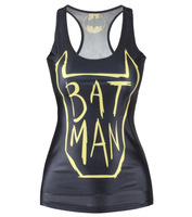 Timed Specials 2016 Batman Femme Sexy Vest Tops Crops For Summer Cosplay Batman Tops Anime Long