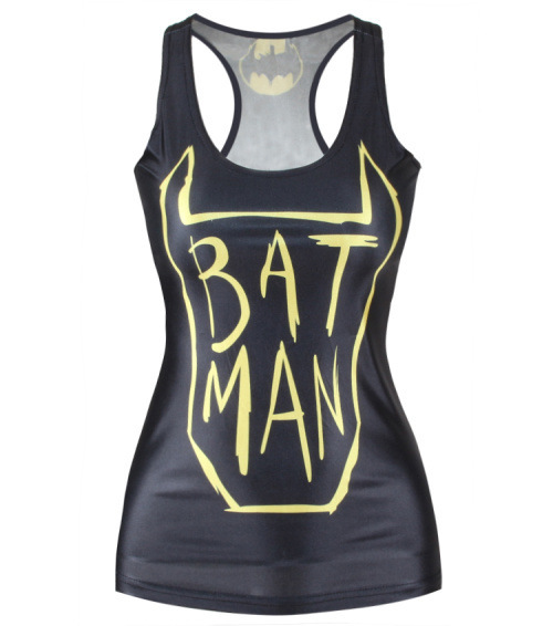 Timed specials 2016 Batman femme sexy vest tops crops for summer cosplay batman tops anime long tank top women vest