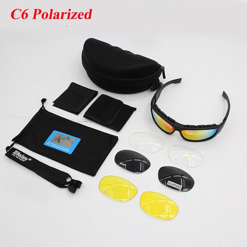 MARGUERITE C6 X7 Vélo Polarisées Sport lunettes de Soleil 4 Objectif Tactique Chasse Tir Lunettes Hommes Militaire Camouflage Airsoft Lunettes