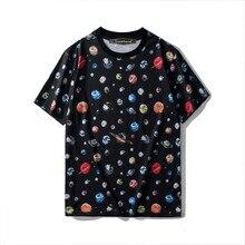 New 2019 summer Men/womens loose T shirts Chic Women print Tops Tee A073