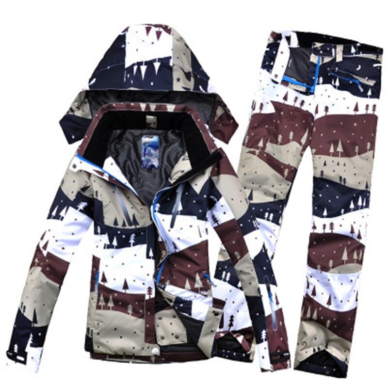 Prix pour LIVRAISON GRATUITE Nouveau Winterimpression 2017 Femelle Ski Veste + Pantalon de Femmes imperméable à L'eau, coupe-vent Respirant Snowboard Ski Costumes