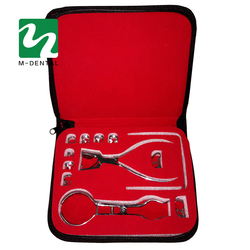 1 مجموعة المطاط سد ثقب الناخس كماشة العناية الأسنان طبيب الأسنان معدات مختبر قياس شحن مجاني