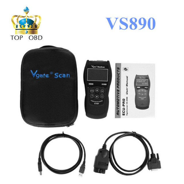 2017 DHL Free Top Rated VS890 OBD2 Universal VGATE VS890 Diagnostic Scanner Multi-language Auto Scan tool Vgate MaxiScan VS890