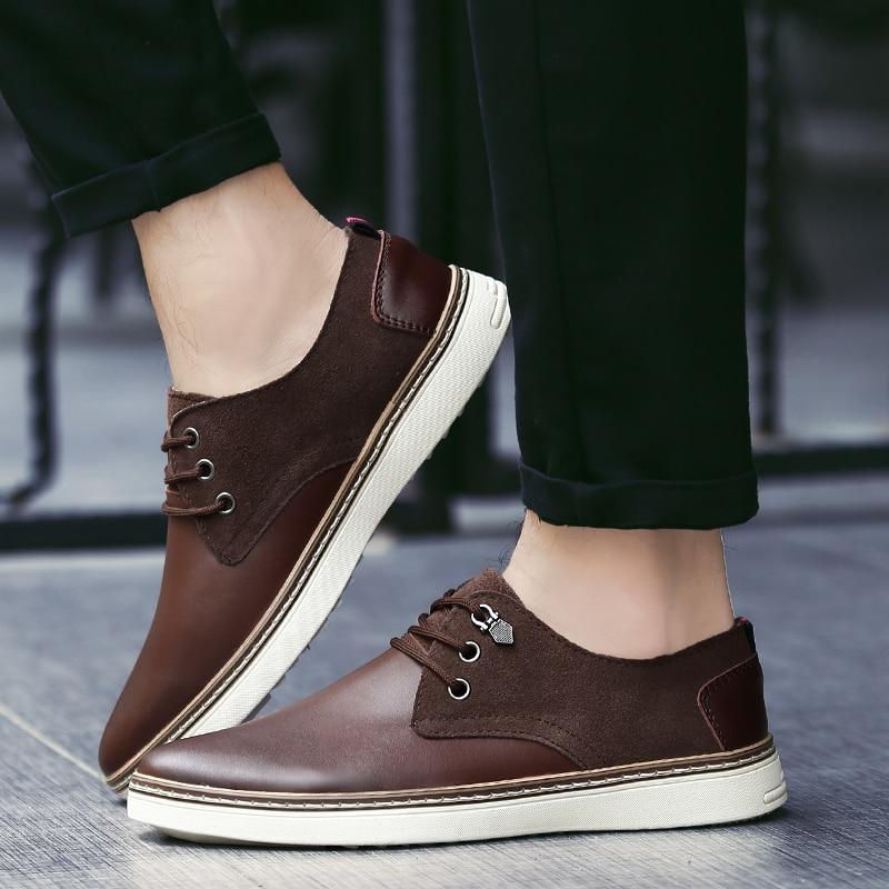 La Version brown 5 Hommes Coréenne Britannique 2018 D'affaires 38 Nouveau De Black Noir Chaussures Décontractée Professionnel Jeune Taille 46 ABwFv8xwq