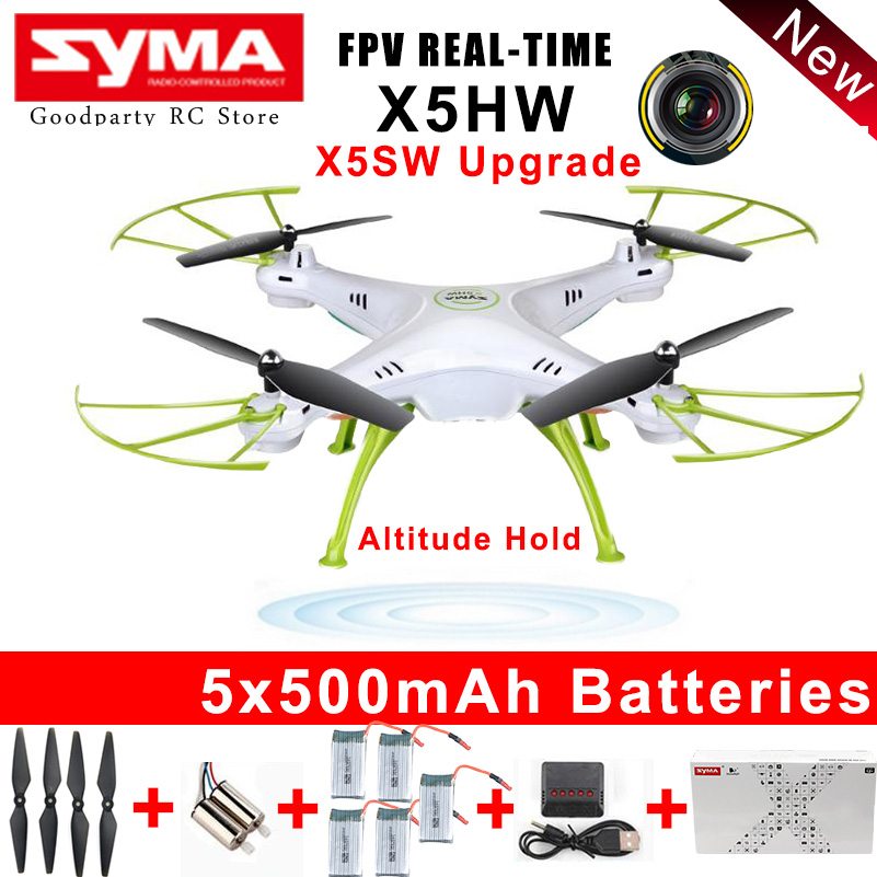 SYMA Drone With Camera HD Wifi FPV Selfie drones Quadrocopter RC Helicopter Quadcopter RC Dron Toy X5HW (X5SW Upgrade) original syma drone with camera hd x5hw x5sw upgrade fpv 2 4g 4ch rc helicopter quadcopter dron quadrocopter toy