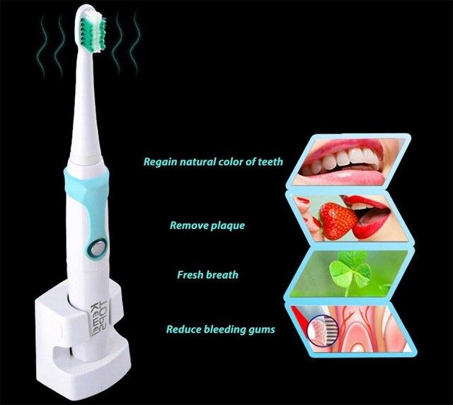 1 Компл. Ультразвуковой Водонепроницаемый Аккумуляторная Электрическая Зубная Щетка С 3 Головки Гигиены Полости Рта Dental Care Для Взрослых Sonic Toothbrush2