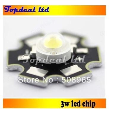 100pcs 3W High Power LED Neutral White 4000K- 4500k LED Light Emitter  with 20mm star pcb base