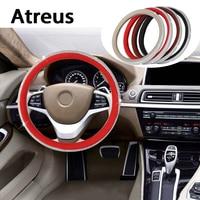 Atreus Diamond Car steering wheel covers rims Genuine styling For VW polo passat b5 b6 Mazda 3 6 cx 5 Toyota corolla Ford focus