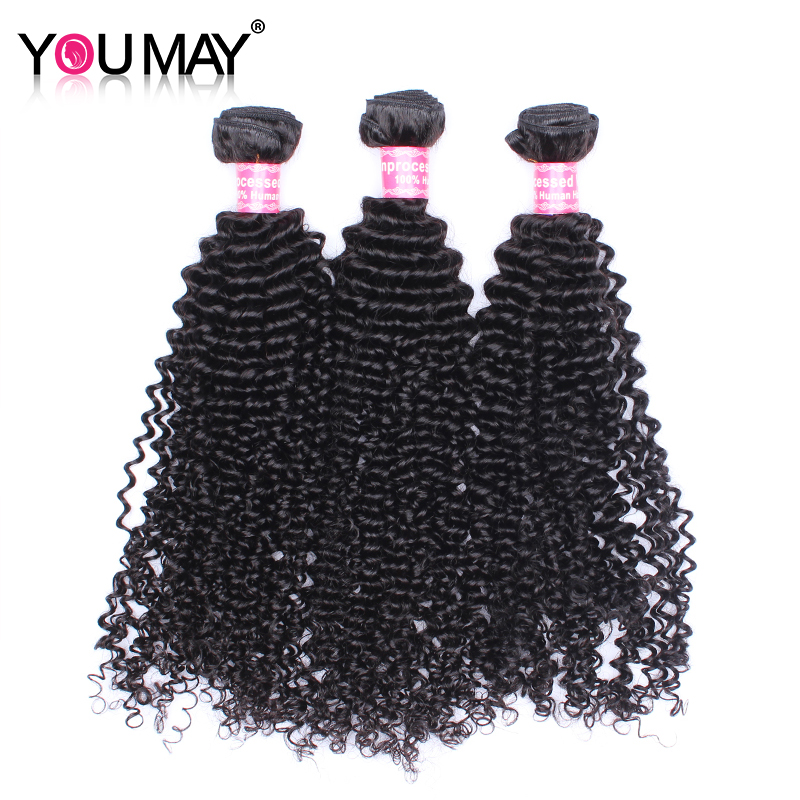 Mongolian Kinky Curly Remy Hair Human Hair Extention Hair Weft 3 Bundles You May ...