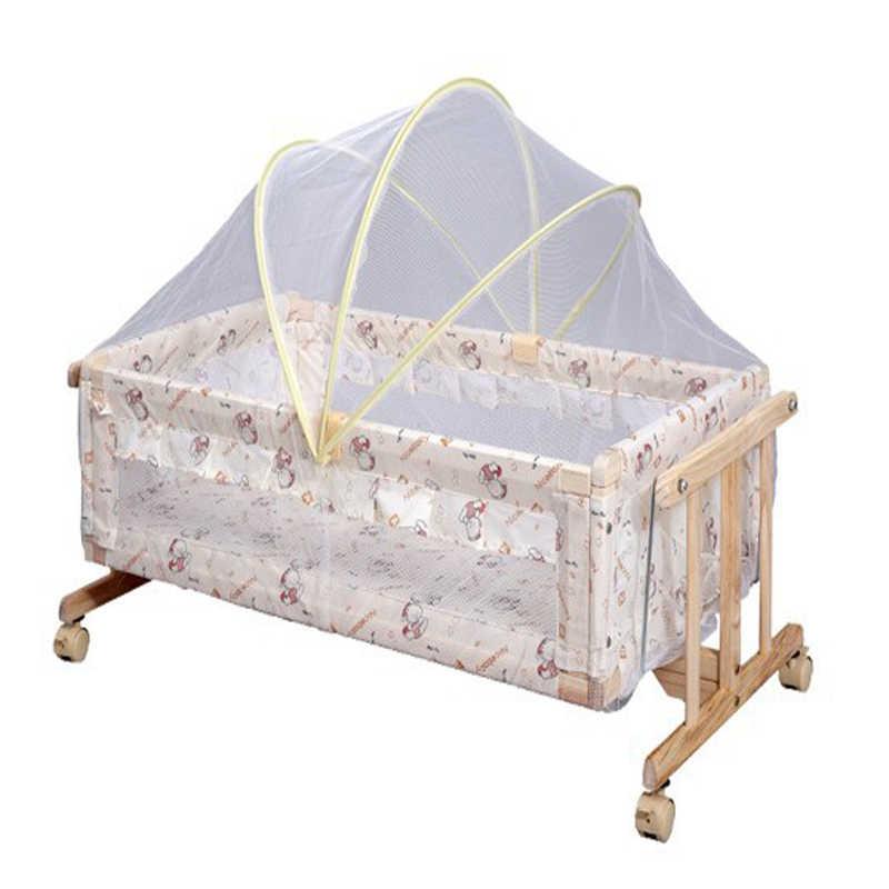 Арочные Детские большого размера кроватки сетки кроватки лето Anti-Mosquito насекомых детская люлька сетки белый сетка 80-100 см Длина