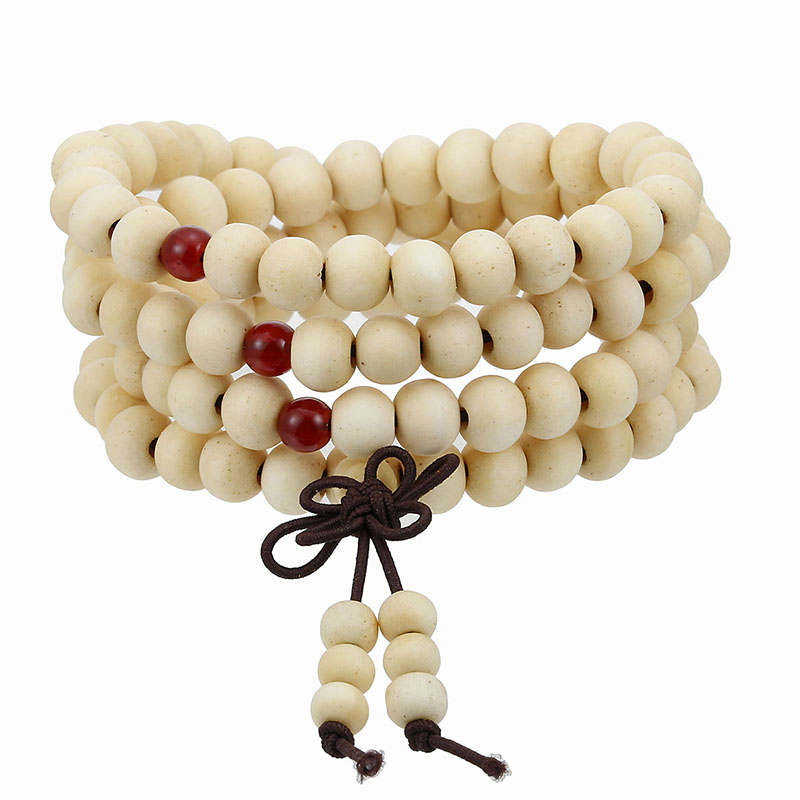 Natural Sandalwood Mala Bracelet 5