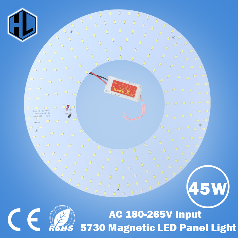 free shipping 180V 220V 240V 45W ROUND Magnetic Modern Led Ceiling Panel Lights Ceiling Light Panel for DIY OR replacement