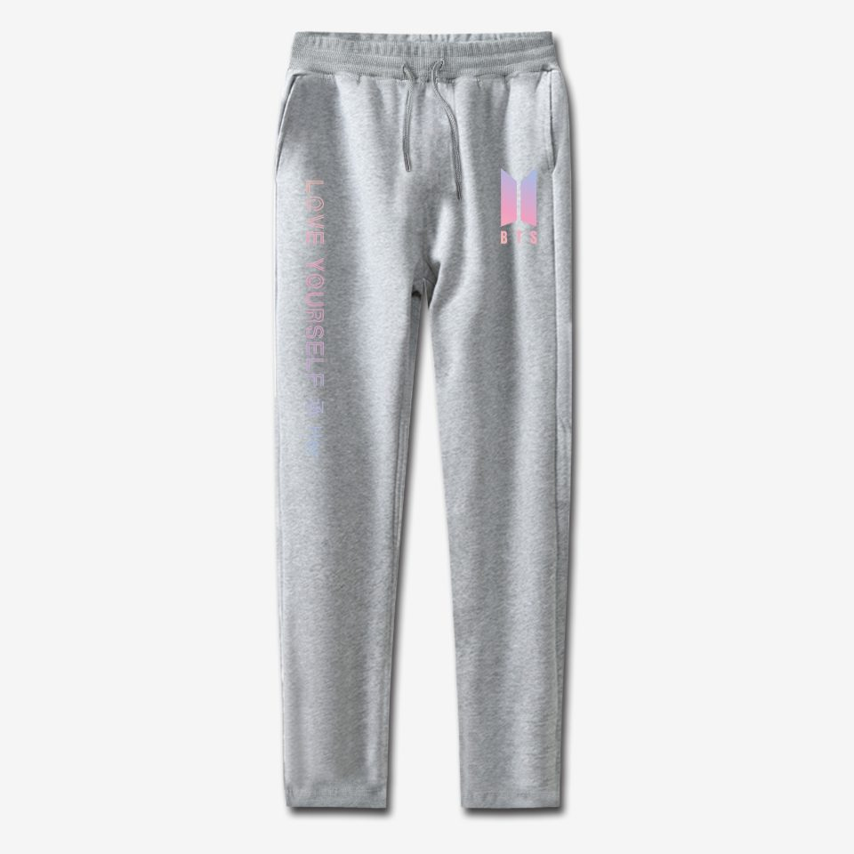 LUCKYFRIDAYF BTS Kpop 100% Cotton Love Yourself Women/Men High Quality Trousers Casual Warm Sweatpants Jogger Pants Outwear