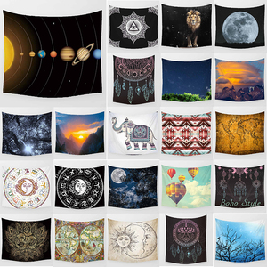 Unicorn tapestry Solar system world map lion  wall hanging tapestry home decoration large rectangle bedroom wall tapestry