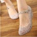 Summer girls wedge jelly shoes beach comfortable Women sandals Wedges Sandals High Heels Glass Slipper Jelly Shoe