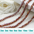 5040 AAA Top Quality Dark Amber AB Color Loose Crystal Glass Rondelle beads.2mm 3mm 4mm,6mm,8mm 10mm,12mm Free Shipping!