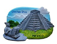 Mexican Mayan Pyramids Hand Painted Aromatherapy 3D Fridge Magnets World Travel Souvenirs Refrigerator Magnetic Sticker