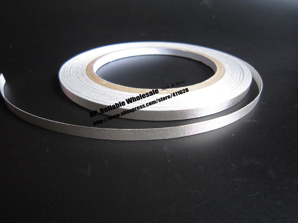 6mm*30M, Single Adhesive Silver Conductive Cloth Tape, EMI Shielding for Laptop, Mobilephone 5mm 20m double adhesive double conductive cloth fabric tape emi shielding tape for laptop pc htc sensation xe mobilephone