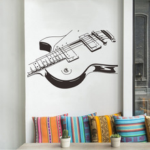 Creative large size Music guitar Wall Sticker room bedroom decoration Mural Art Decals wallpaper individuality stickers
