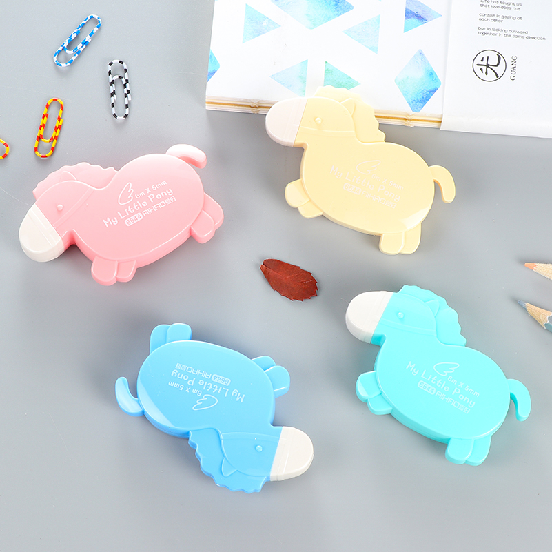 Cute Cartoon Animal Correction Tape Students Stationery Correctie Tape White 5 Meters