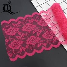 15cm 5yards width elastic lace elastic sewing ribbon guipure lace trim or fabric warp knitting DIY Garment Accessories