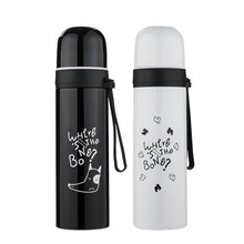 Thermos Bottle 500ml Portable Stainless Steel Vacuum Flask Thermos Coffee Cup Travel Water Bottle L521