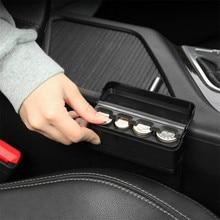 Автомобильный интерьерный чехол для монет, черный держатель для монет, коробка для хранения, автомобильный евро чехол для монет, пластиковый держатель для монет, контейнер, органайзер