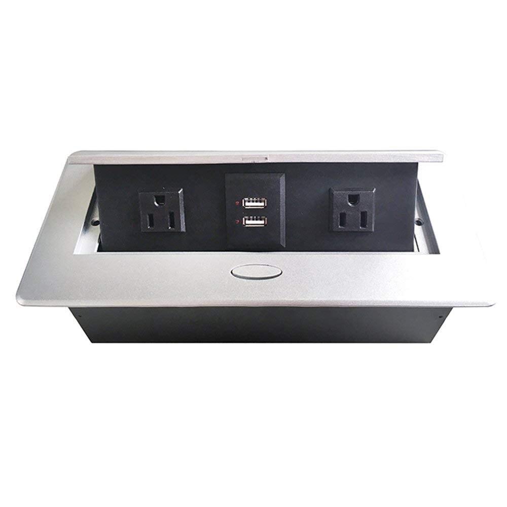 2019 boîtier de connexion de prise multimédia amortie prise de bureau avec alimentation et chargeur USB pour salle de conférence