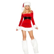 Christmas new Santa costume Europe and America Amazon party with foot cover