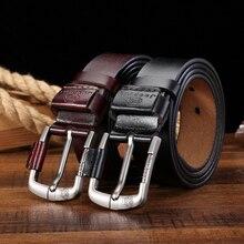 Men's Genuine Leather Pin Buckle Belt