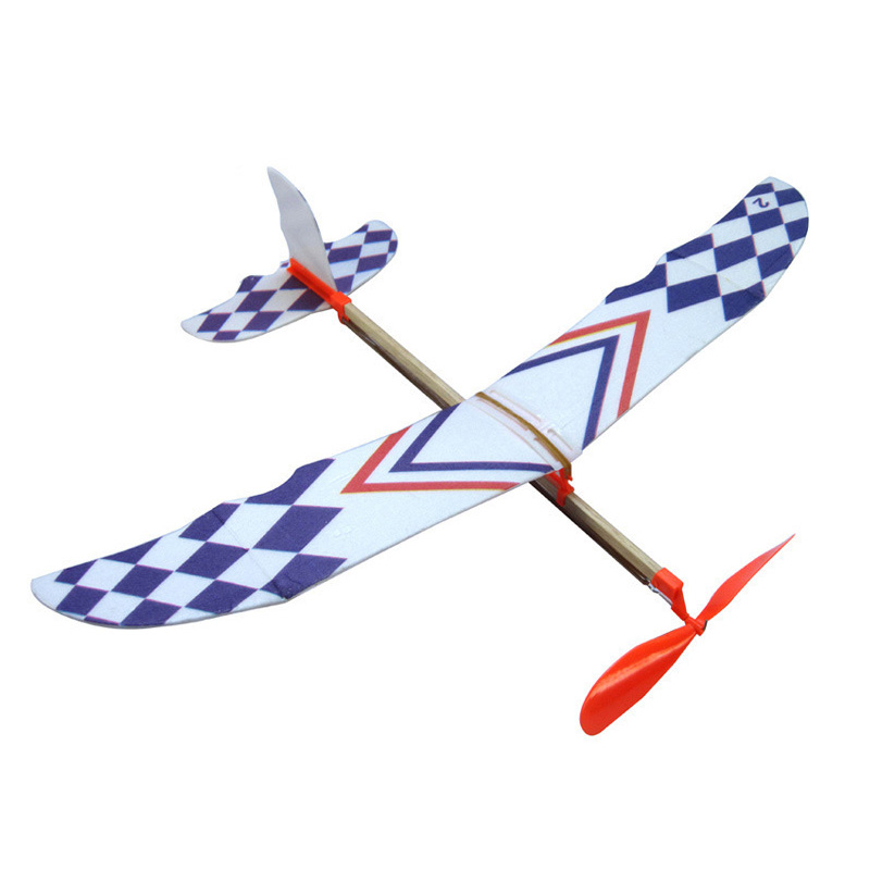 HOT SALE Elastic Rubber Band Powered DIY Foam Plane Model Kit Aircraft Educational Toy image
