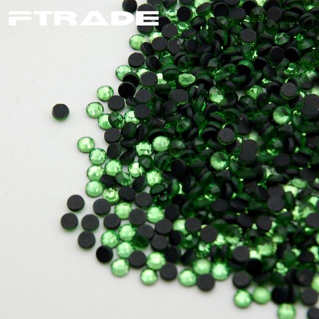 SS6 SS10 SS16 SS20 SS30 Light Green DMC Hotfix Rhinestones Glass Crystal  Flatback Hot Fix Rhinestone For Party Dresses 1cca885bcd1b