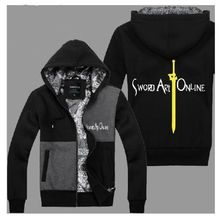 Autumn and winter the sword sweatshirt thickening cardigan male eleomargaric outerwear female long-sleeve clothes lovers