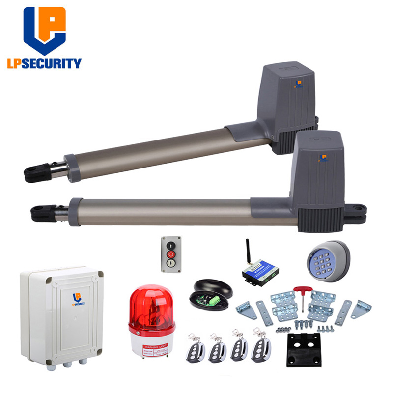 Electric Gate Kits >> Us 202 35 5 Off Lpsecurity Electric Gates Electric Swing Gate Opener 300 Kg 600kgs Swing Gate Motor Wireless Keypad Gsm Opener Optional In