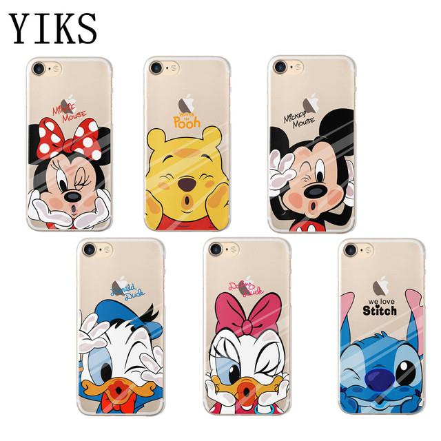 For fundas iPhone 5S case 5 6 6s 7 Plus lovely minnie mickey soft silicone TPU 640x640