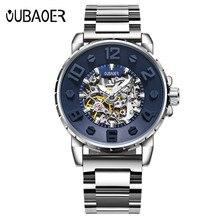 OUBAOER Hombres Relojes de Primeras Marcas de Lujo Mecánico Reloj de Los Hombres de Negocios Reloj de Pulsera Ejército Militar Relojes Hombre Reloj Automático