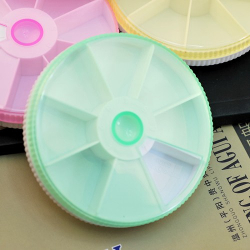 Круглый прозрачный pill box Цвет коробка Флип Тип прозрачный портативный комплект