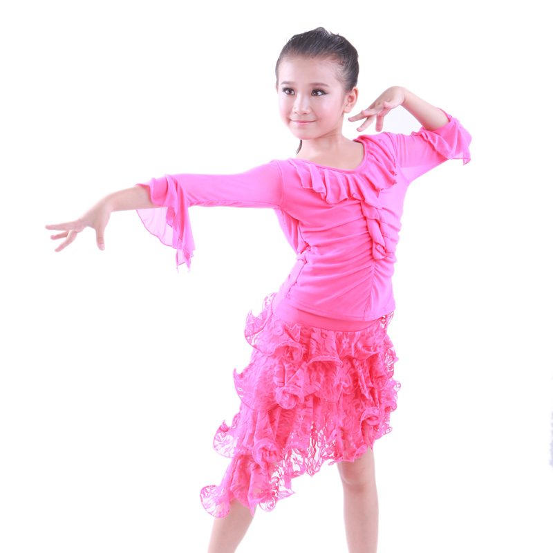 Aliexpress.com : Buy Latin Dance Dress for Girls Practice top and ...