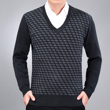 2017 new sweaters men V neck mens sweaters pullover brand autumn winter 2XL knitwear dress male