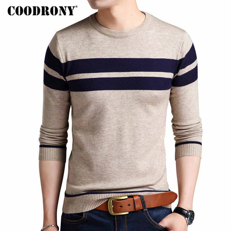 COODRONY Mens Knitted Cashmere Wool Sweaters 2019 Autumn Winter New Pullover Men Casual O-Neck Jumper Sweater Men Pull Homme 217