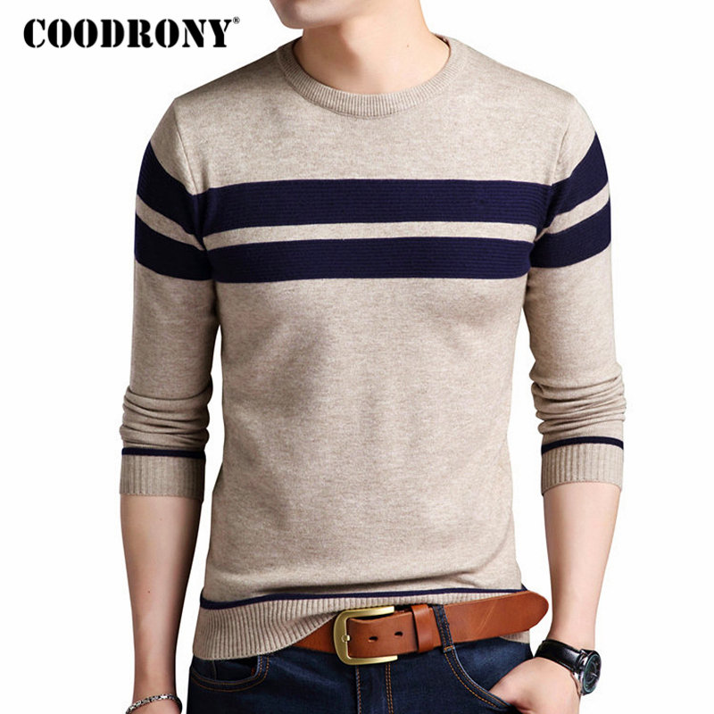 COODRONY Mens Knitted Cashmere Wool Sweaters 2020 Autumn Winter New Pullover Men Casual O-Neck Jumper Sweater Men Pull Homme 217