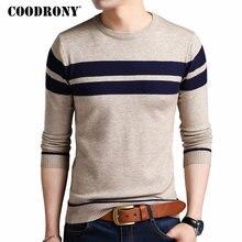 Мужской свитер COODRONY, вязаный кашемировый свитер с круглым вырезом, Осень зима 2020