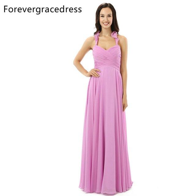 Kleid rosa farben