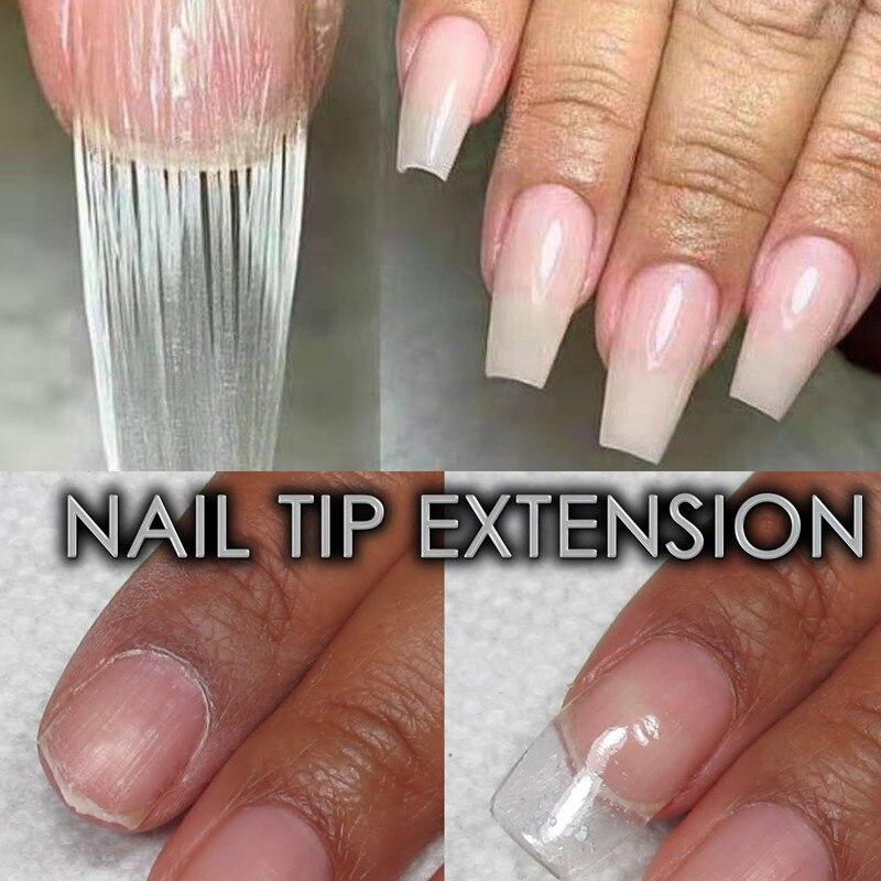 US $1 63 18% OFF|10pcs/bag Fiberglass Nail Extending for Nail Silk Wrap  Extension Nail Form Acrylic Tips Nail Art Helps Repairs Broken Nails-in  False